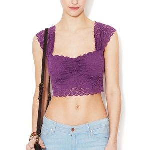 Scalloped lace crop top from free people